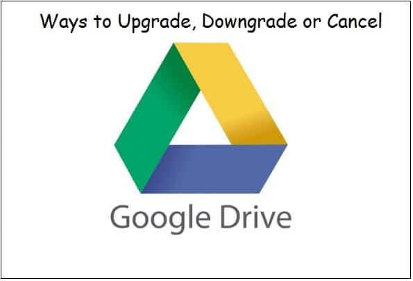 Upgrade Google drive storage space on Web or iPhone/ iPad