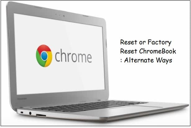 Factory reset Chromebook by google