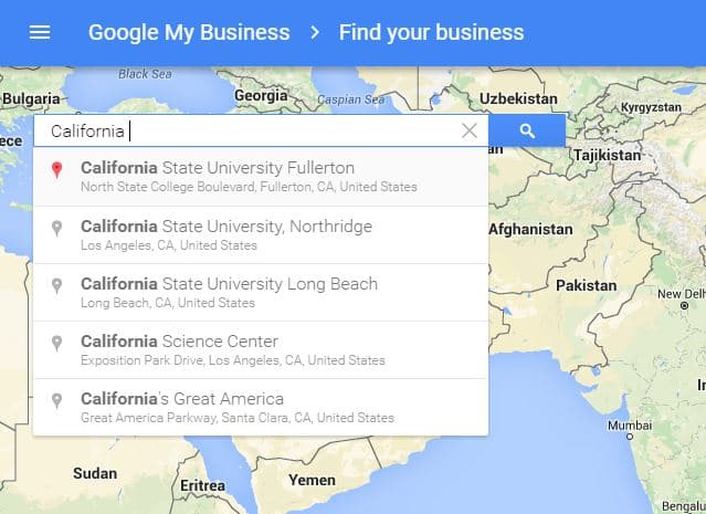 Enter Near location from your business