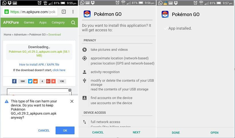 Direct Download Pokemon go in any country free