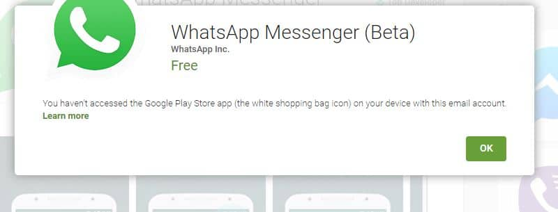install WhatsApp Beta android after verification