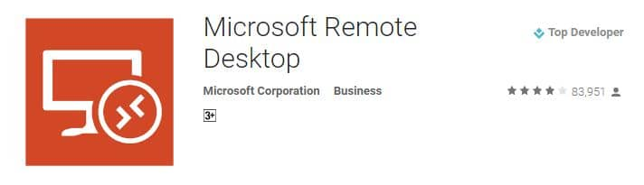 From Microsoft official App for remote desktop