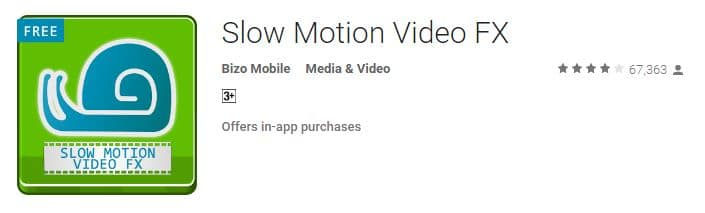 Android apps for record slow motion for android