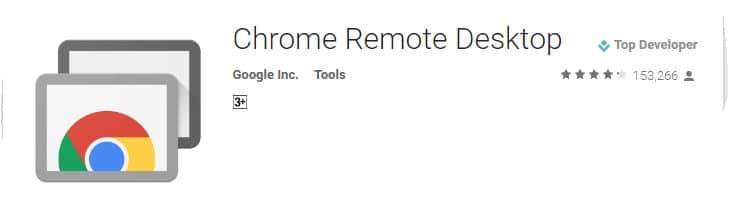 Access Desktop remotely using Chrome