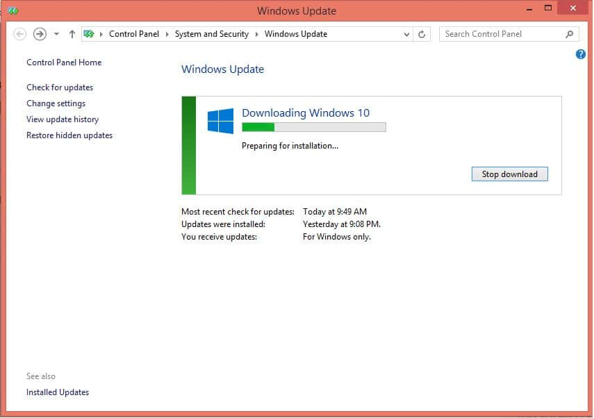 download and install windows 10 on PC or Desktop