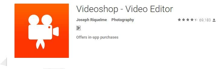 Videoshop free app for android mobile