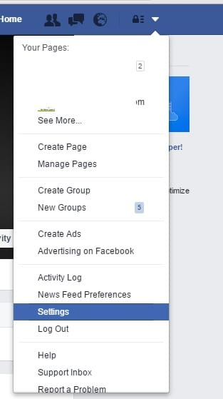 Go Facebook Setting for Change facebook Email ID