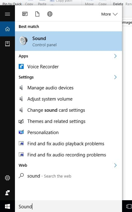 1 Open sound settings on windows 10 PC or Laptop