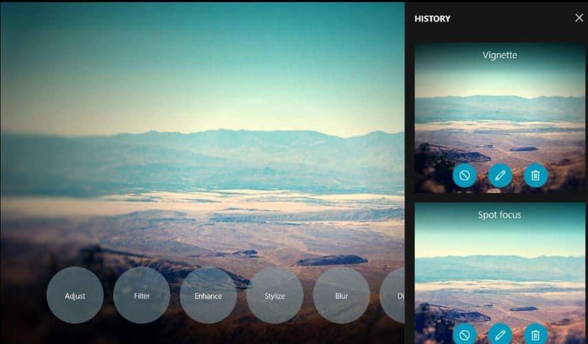 1 Photo Shader windows 10 app for edit