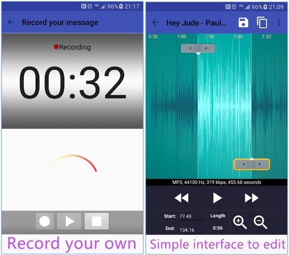 record sound and Best ringtone maker android app for mobile