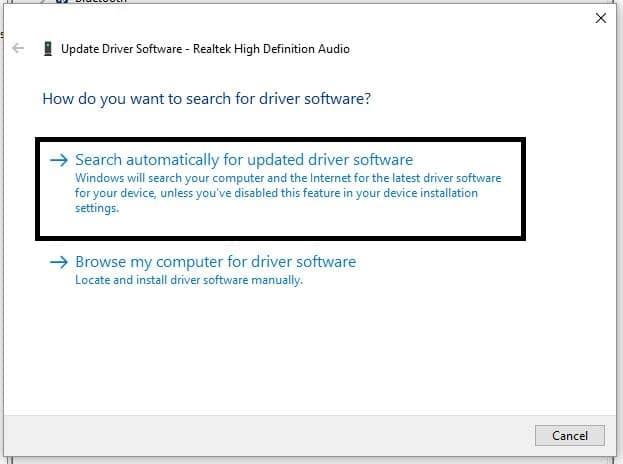 3 Find driver update on windows