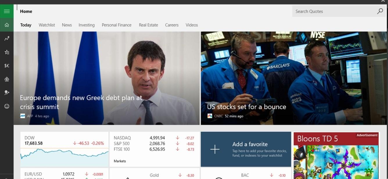 3 MSN finance app for Windows PC or Laptop