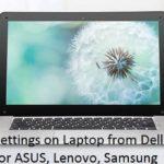 4 BIOS key for HP DELL ASUS SAMSUNG running windows 10