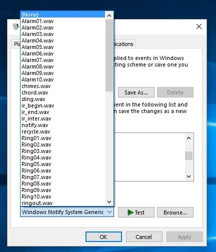 Change or Enable/ Disable notification sound in Windows 10 Laptop/ PC
