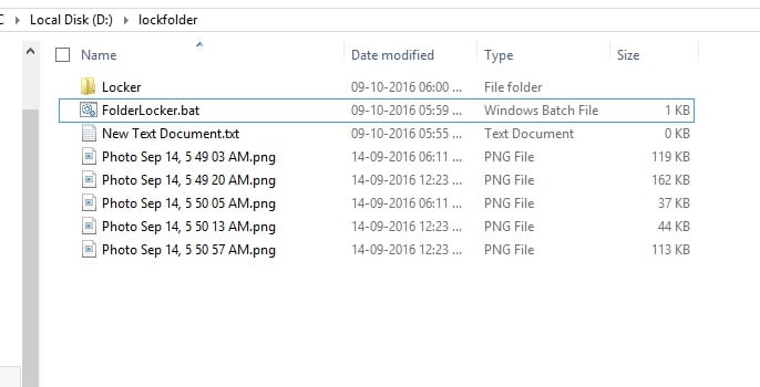 Created Locker folder on windows 10 disk
