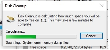 5 System error and clean dump file