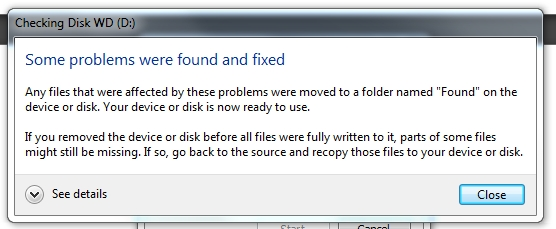 5 fixed Drive problem in windows seagate or WD