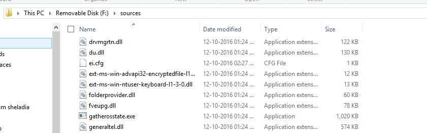 Created cfg file in source folder in Bootable drive