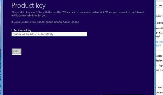 windows 8 bypass product key