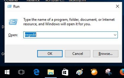 Open registery editor using run command in windows 10 and create system restore point on Windows 10