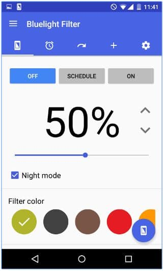Reduce Blue Light on Android using app on Lollipop or Marshmallow