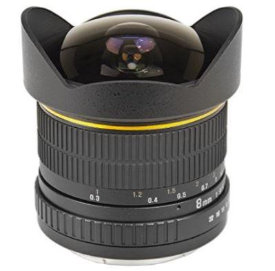 2 Wide-Angle 8mm Fixed Lens f3.5 Fisheye