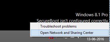 2 Network Sharing option in Laptop windows 8
