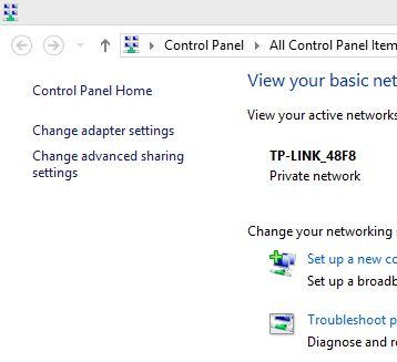 2 internet Adapter setting