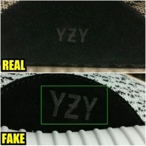 adidas outer logo 2: Adidas Yeezy boost authentic