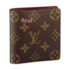 real wallet of Louis Vuitton handbags
