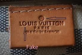 stamping fake on Louis Vuitton handbag