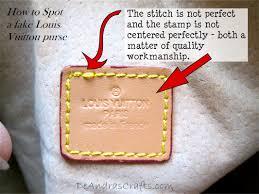 stitching on Louis Vuitton handbag
