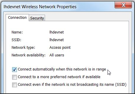 Stop auto connect wifi network on windows 7
