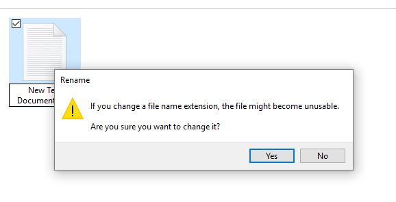 Change file formate in to dat on windows
