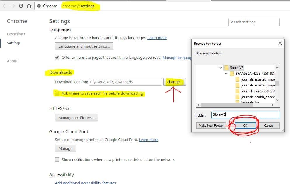 How to change Google Chrome default download location: Windows, Mac