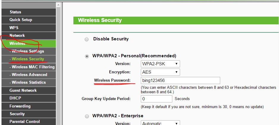 10 wireless router password for connect overt the air
