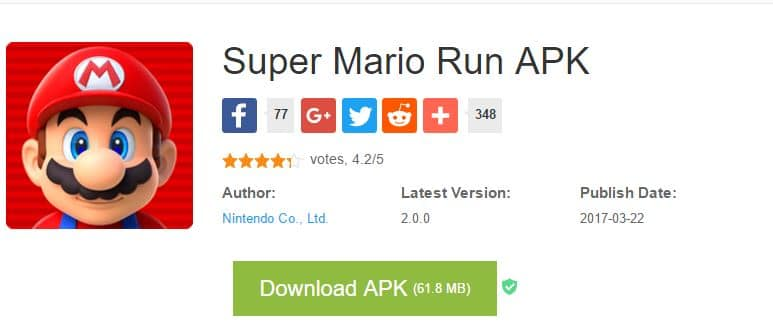 Download Super Mario Run APK file