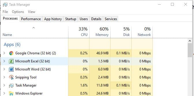 2 End Google chrome process in Task manager