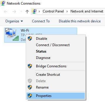 3 Find Network Properties on windows 10
