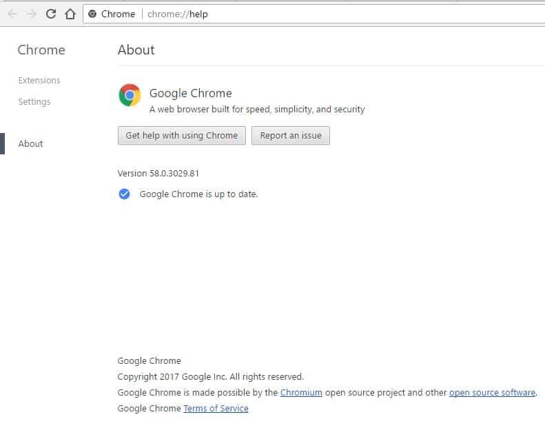3 Google Chrome update error in Windows Laptop or PC