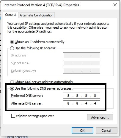 4 Change and use new DNS Address