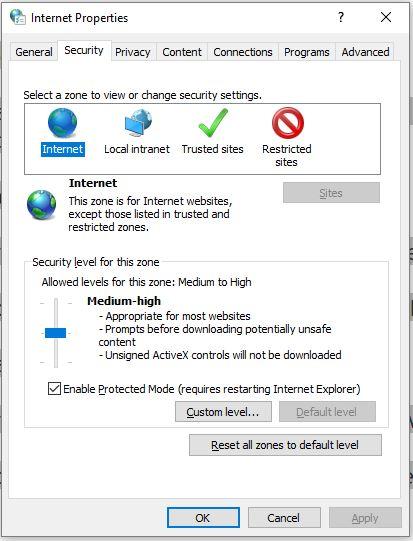 7 Change Security level