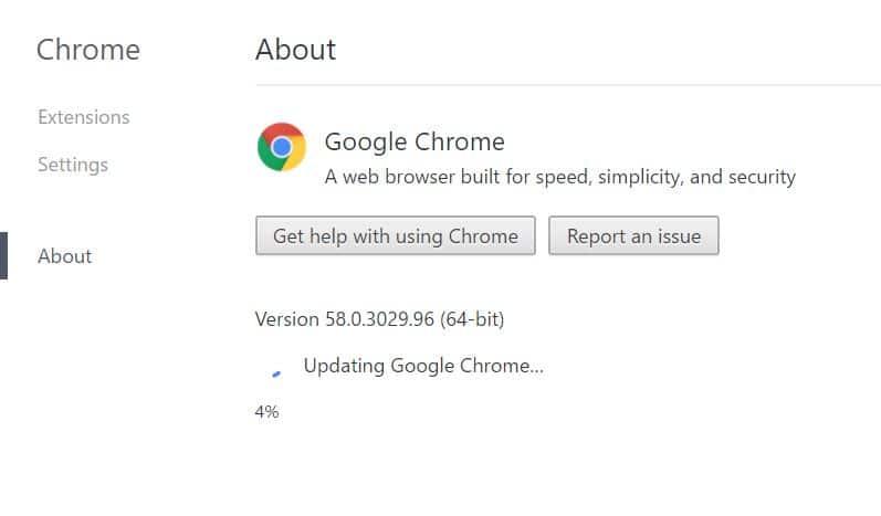 1 Update Google Chrome on windows