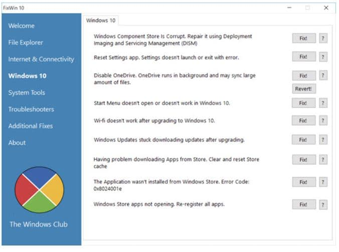 1 Win Fix windows 10 problems and fixes