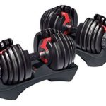 2 Bowflex adjustable dumbbells