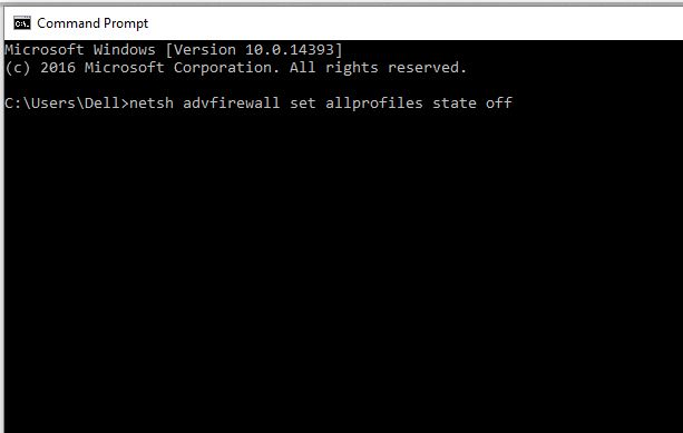 7 Turn off firewall using command prompt on windows 10
