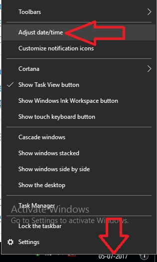 1 Adjust Date and Time on windows PC or Laptop