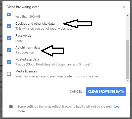 5 Clear Browsing Data on Google Chrome windows System