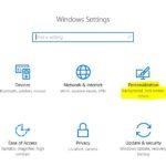 1 Personalization settings in windows 10