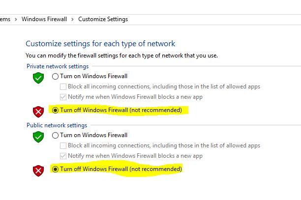 6 FireWall Settings on windows 10
